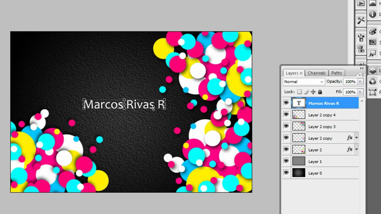 Adobe Photoshop | Crear una tarjeta de presentación - YouTube