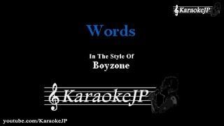 Words Karaoke Boyzone