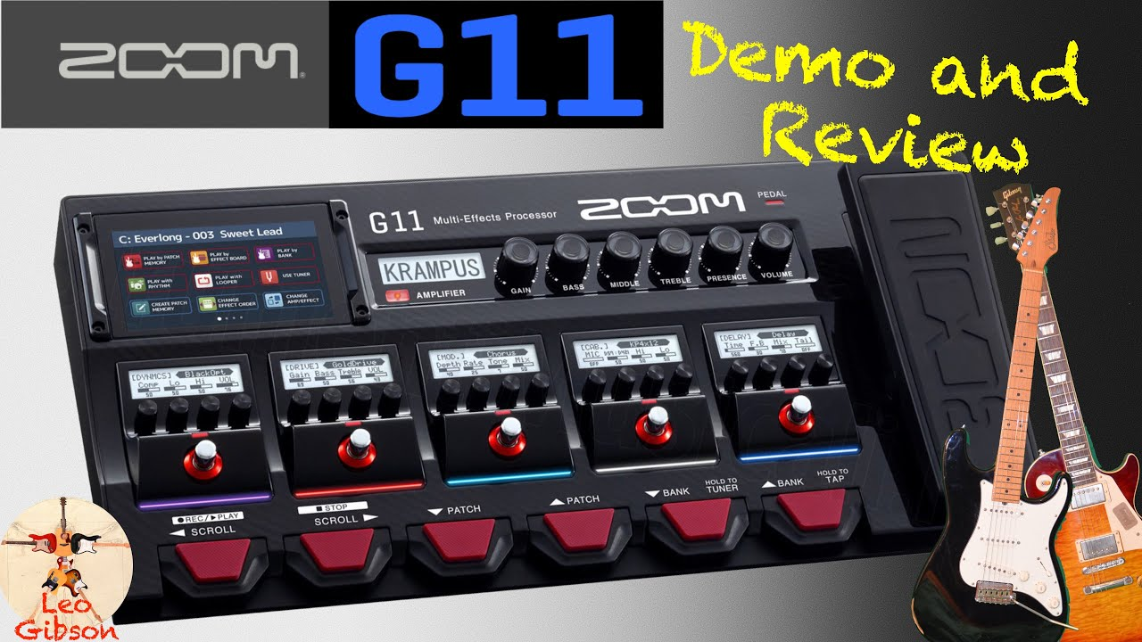 Zoom G11: Demo and Review (vs VOX and Marshall JCM 800)