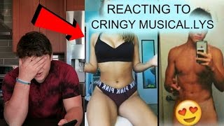 REACTING TO CRINGEY DIRTY MUSICALLY'S! *MOST DISGUSTING*
