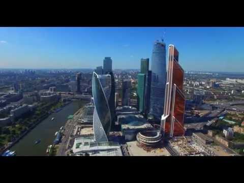 Смотреть Москва Сити - полет ( вид сверху) онлайн