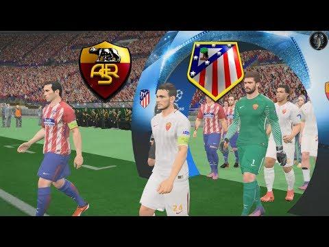 "Roma vs Atlético Madrid | UEFA Champions League | PES 2018 ""Graphics"" | Link Patch (Giù)"