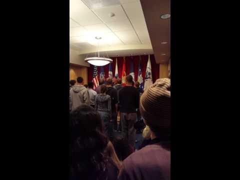Cole Swearing in Marine Corps