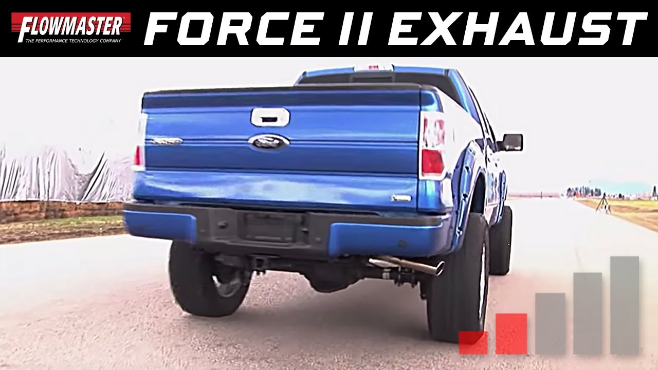 2009 14 ford f 150 4 6l 5 4l flowmaster force ii cat back exhaust system 817509