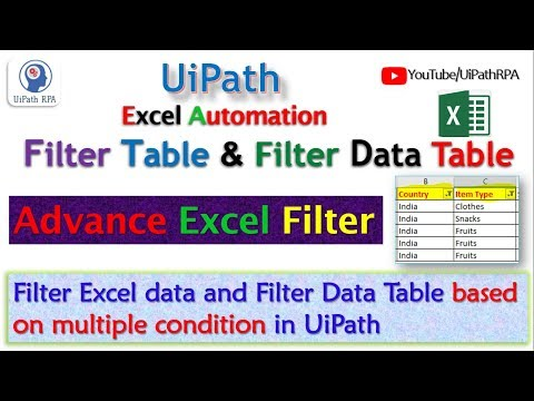UiPath-Filter Excel Data Excel Automation UiPath RPA Tutorial - YouTube
