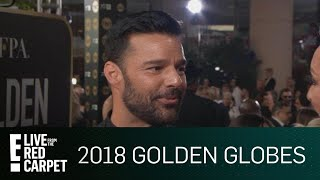 """Ricky Martin Talks """"Versace"""" at 2018 Golden Globes   E! Live from the Red Carpet"""