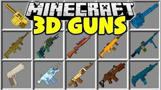 connectYoutube - Minecraft 3D GUNS MOD   CRAFT GUNS IN MINECRAFT AND DEFEND YOUR HOUSE!!
