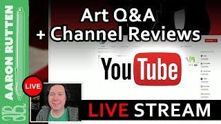 🔴 LIVE: Digital Art Tips & Advice for YouTube Art Channels (Jan 12, 2018)