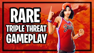 RARE Triple Threat Skin Gameplay Fortnite