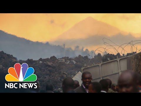 Thousands Flee Volcano Eruption in Democratic Republic Of The Congo