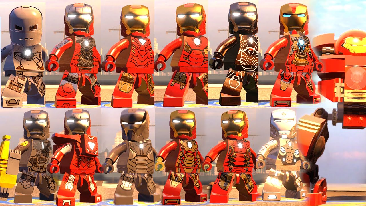 IRON MAN ALL SUITS WITH ABILITIES (Iron Man All Suit Up ...