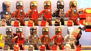 iron man all suits with abilities iron man all suit up animations lego marvel avengers