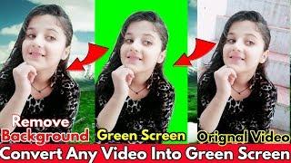 Convert Whole Video Into Green Screen   Green Screen Video Converter   Green Screen Video Maker