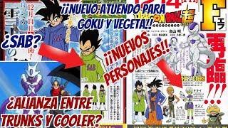 Nuevos Personajes para DBS | ¿Alianza con Cooler? | Nueva Información - Dragon Ball Super