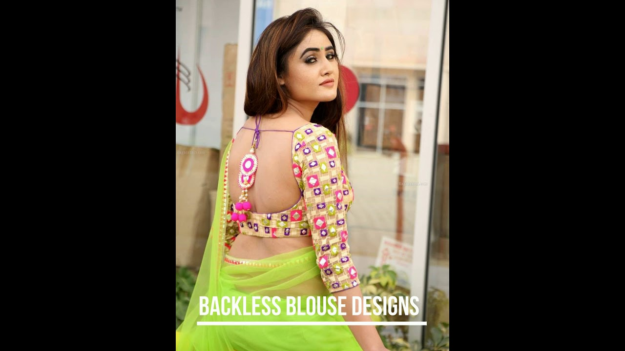 Casual concurrence Backless saree blouses designs for women excellent idea