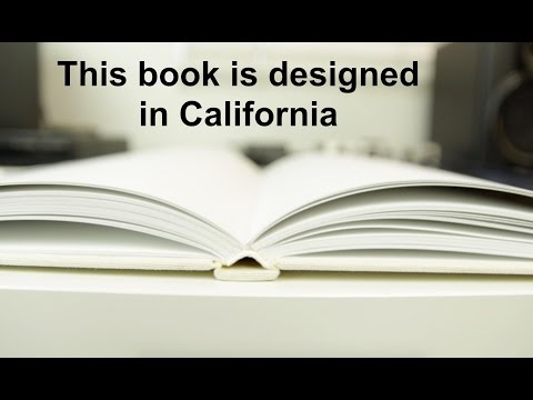 This book is designed in California (An Apple Parody)
