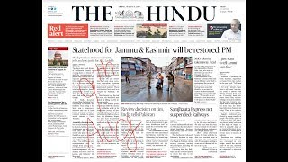 The Hindu Newspaper Analysis and Editorial Discussion 9