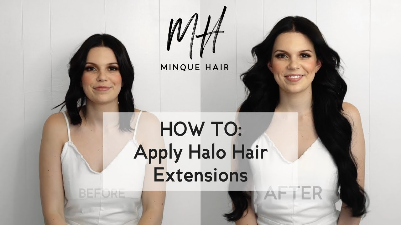 How To Apply Halo Hair Extensions | Minque Hair - YouTube