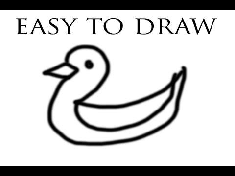 cara gampang menggambar bebek - YouTube