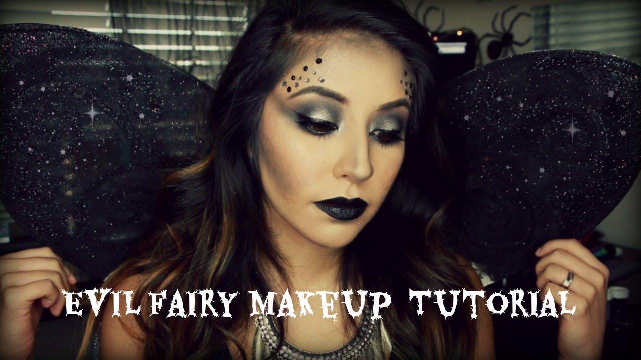easy evil fairy halloween makeup - youtube