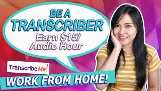 Homebased Typing Job at TranscribeMe | Earn $15/Audio Hour