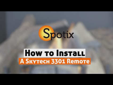 How to Install a Skytech Fireplace Remote - SKY-3301 - YouTube