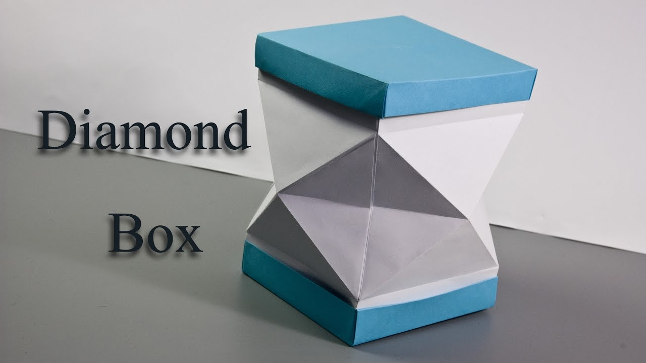 How to Make a Paper Diamond box 🎁 Origami Box - YouTube - photo#42