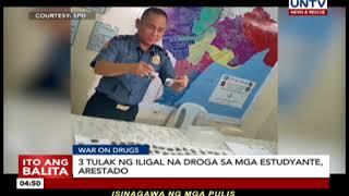 3 tulak ng iligal na droga sa mga estudyante, arestado
