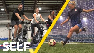 SoulCycle Instructors Try to Keep Up With Professional Soccer Players | SELF