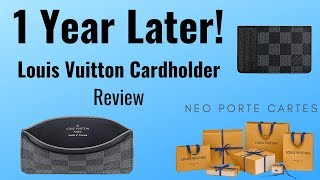 [1 Year Later] Louis Vuitton Neo Porte Cartes Review -- Wallet/Cardholder!