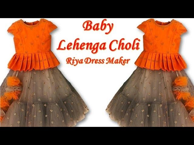 Diy Kids Designer Lehenga Choli Cutting Stitching Full Tutorial Youtube