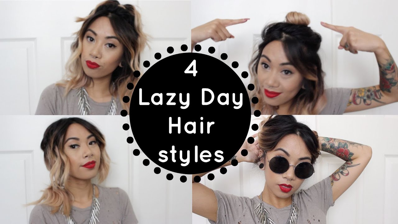4 lazy day hairstyles for day after curls | christinawhy - youtube