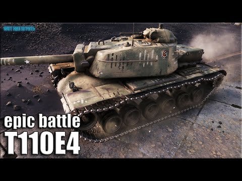 Эпик тащилово БЕЗ СТОЯЛОВА ✅ T110E4 World of Tanks лучший бой