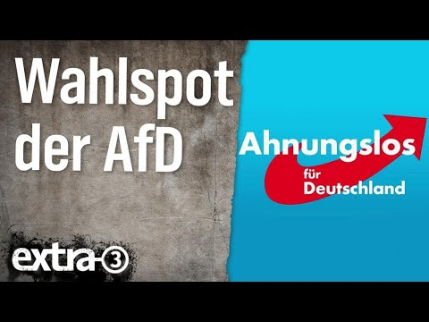 Wahlspot Der Afd Extra 3 Ndr Youtube