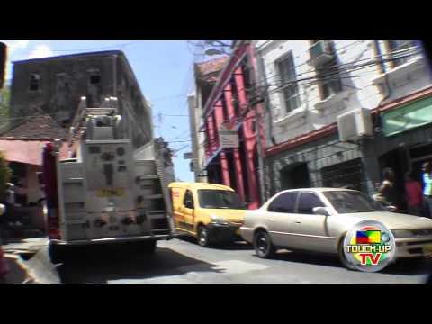FIRE IN TOWN / MARKET HILL BIG FIRE TRUCK GRENADA 2014 TOUCH-UP TV HD VIDEOS