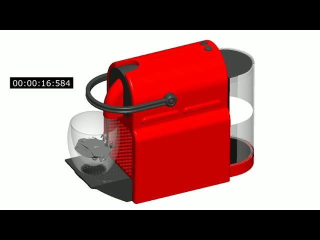 Home appliance simulation of a Nespresso Inissia coffee machine