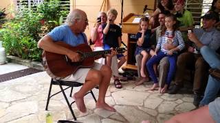 "Jimmy Buffett Sings ""Changes In Latitudes, Changes In Attitudes"" in Havana, Cuba"