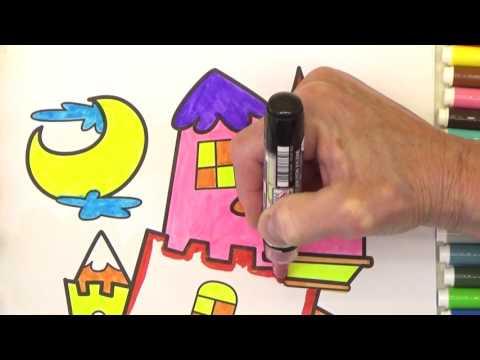 Видео для детей. Раскрашиваем сказочный замок.Бабушкины Сказки .Colorize the fairy-tale castle
