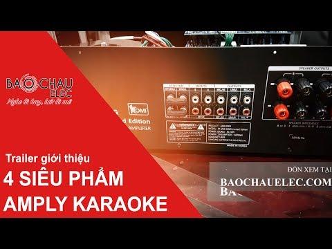 Giới thiệu 4 siêu phẩm amply karaoke hay nhất hiện nay