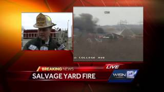 RAW: Fire Dept. briefing on Milwaukee salvage yard fire