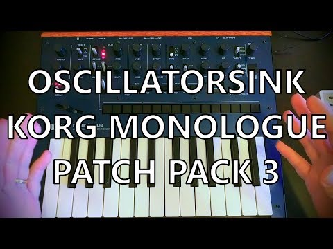 Korg Monologue Patch Pack 03 - FREE!