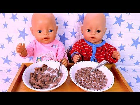Куклы Двойняшки Беби Бон Кушают Делают Делишки Смотрят Мультики Для детей #Бебибон
