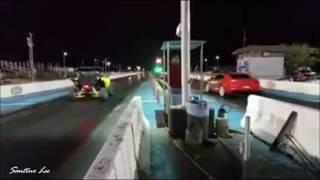 yamaha turbo yxz1000r vs 2011 camaro ss drag race