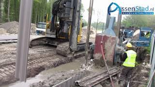 uitgraven  fundering Maten Tunnel in Assen