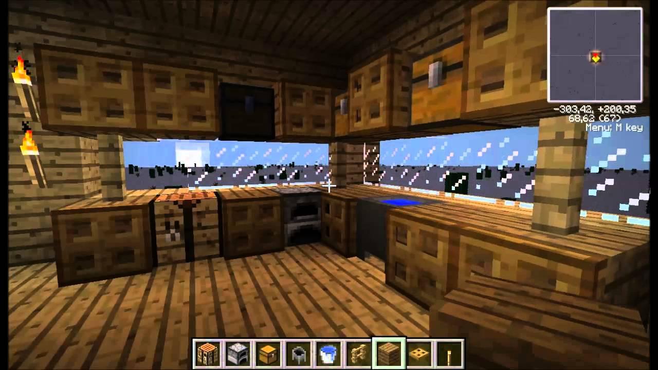 Como hacer una cocina en minecraft 1 4 7 youtube for Como armar mi cocina