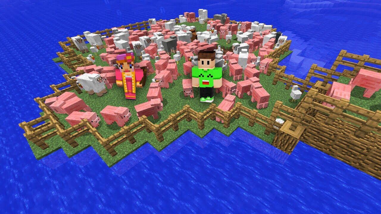 MASSIVE MINECRAFT ISLAND FARM Minecraft 5  Doovi