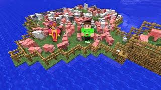 MASSIVE MINECRAFT ISLAND FARM! (Minecraft #5)