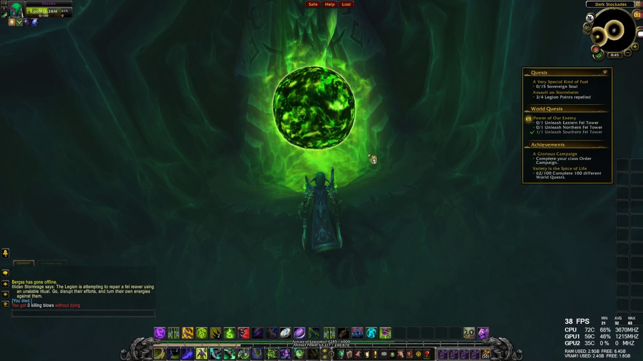 World Quest Power Of Oiur Enemy Wow Legion Hd 1080p 60fps Youtube