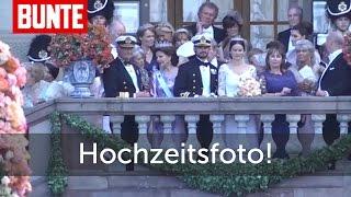 Sofia & Carl Philip: Hochzeitsfoto auf dem Balkon - BUNTE TV