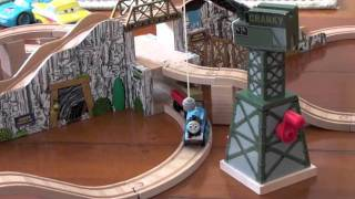 Wooden Thomas track layout with auto pick up by Cranky Crane thumbnail